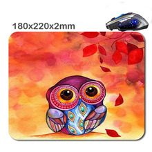 Mairuige Lovely owl Customized 180 * 220 * 2 Mm Rectangle Non - Slip Rubber Soft 3 D Print Gaming Laptop Mouse Pad As Gift(China)