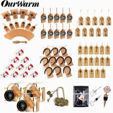 OurWarm Свадебные сувениры бумажная коробка для конфет открывалка для ключей с бирками Свадьба Подарок для гостей сувенир вечерние украшения