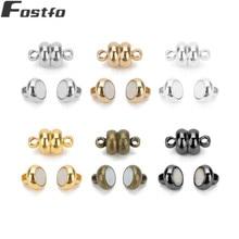 Fostfo 10 шт./компл. 7 мм Диаметр сжатая магнитные застежки для кожаного ремешка на браслет, соединительное устройство, Цепочки и ожерелья Diy ювелирных изделий 6 Цвет можно выбрать