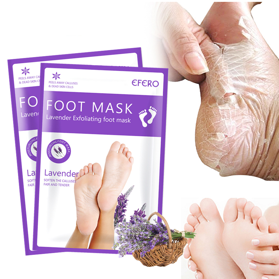 Füße Peeling Fuß Maske Aloe Fuß Maske Für Beine Feuchtigkeitsspendende Maske Pediküre Socken Entfernen Abgestorbene Haut Heels Peeling Nagelhaut 4 Pcs = 2 Pack Hautpflege
