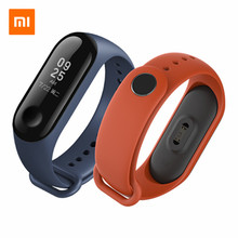 Origianl Xiaomi Mi Band 3 Wrist Strap TPU Material Black Orange Pink Blue Wine-red Bracelet for Xiaomi Miband 3 Smart Wristband(China)