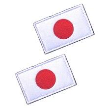 5 шт./лот/партия, нашивки с вышитым флагом Японии, нашивки на липучке для одежды