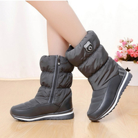 Winter Women Plush Boots 2017 New Arrivals Platform Mid Calf Zipper Ladies Shoes 8 Colors Botas