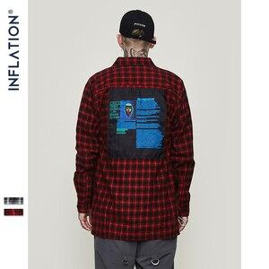 Image 2 - อัตราเงินเฟ้อขนาดใหญ่ตรวจสอบแขนยาวสบายๆเสื้อ 2020 ฤดูใบไม้ร่วงฤดูหนาวแฟชั่น Hip Hop ผู้ชายลายสก๊อตตรวจสอบเสื้อ 8713W