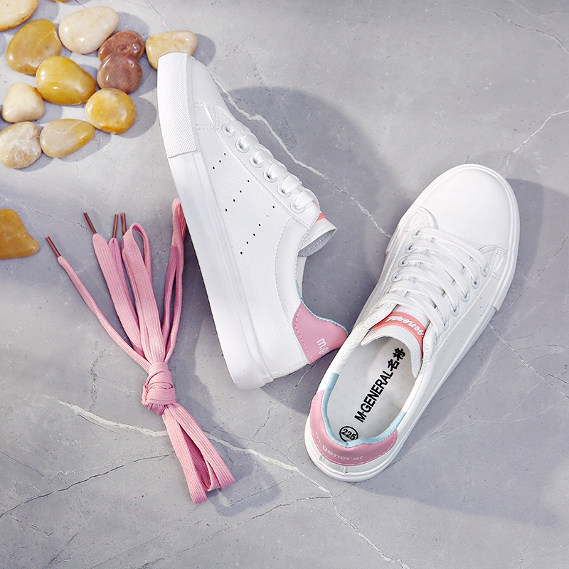 M.GENERAL Women Casual Shoes 2018 Summer New Female Leather Shoes Mixed Color Fashion Sneakers Zapatillas Deportivas Mujer 35-40 цены онлайн