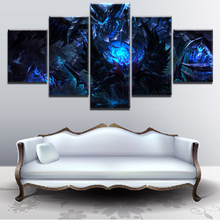 Home Living Room Wall Art Canvas Painting Printed Game Poster HD Print Decorative Picture 5 Piece DOTA 2