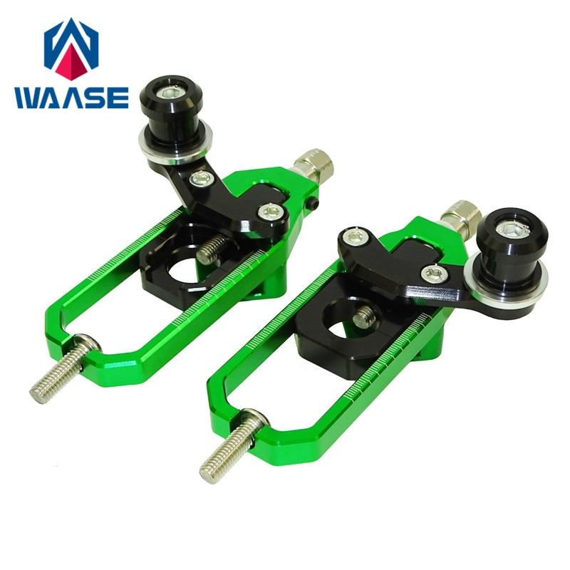 waase waase Ninja ZX10R Left Right Chain Adjusters with Spool Tensioners Catena For Kawasaki Ninja ZX
