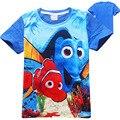 Verano de Dibujos Animados Buscando A Nemo DORY 2 Niños Camisetas Niños Camiseta de los niños Adolescentes Ropa para niños de los bebés Camisetas