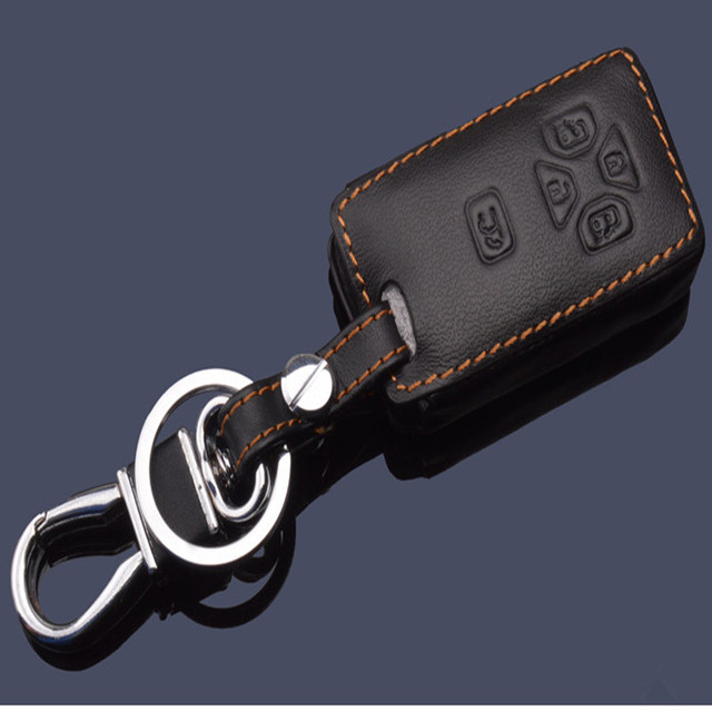 Genuine Leather Car Key Cover Case For Toyota Corolla Reiz Mark X Camry  leather car  key ring keychain