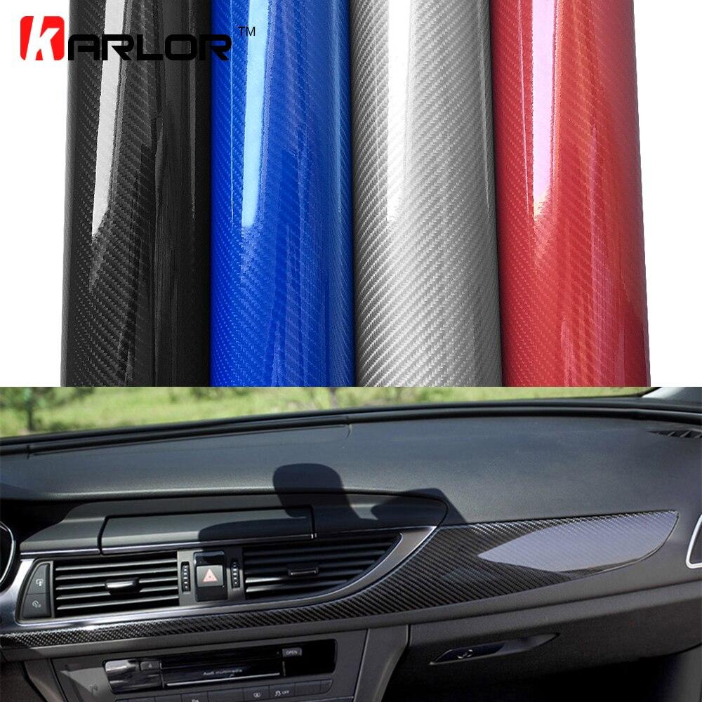2 m/5 m/10 m/18 m * 1.52 m 5D Film De Voiture En Fiber De Carbone Vinyle film Carbone Fibre Wrap Fiche Film Roll Autocollants De Voiture Car Styling Accessoires