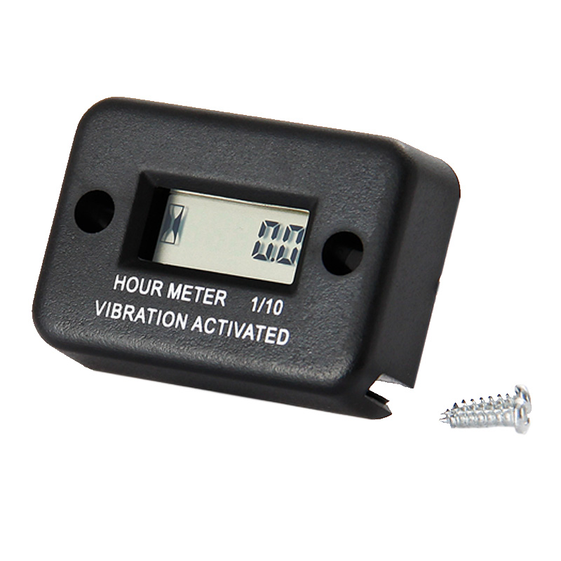 Waterproof Vibration wireless hour meter for gas diesel engine and electric motor lawn mower chain saw