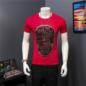 High Quality 2017 New Arrival CosMaMa brand clothing mens summer printed o-neck skull cotton short sleeve fashion cool t-shirt