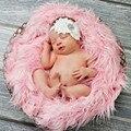 50*60 cm Fotografia Mongol Fur Cobertores Cobertores Do Bebê Recém-nascido Macio da Pele Do Falso Foto Props