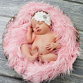 50 * 60cm Newborn Baby Soft Faux Fur Blankets Photography Mongolian Fur Blankets Photo Props