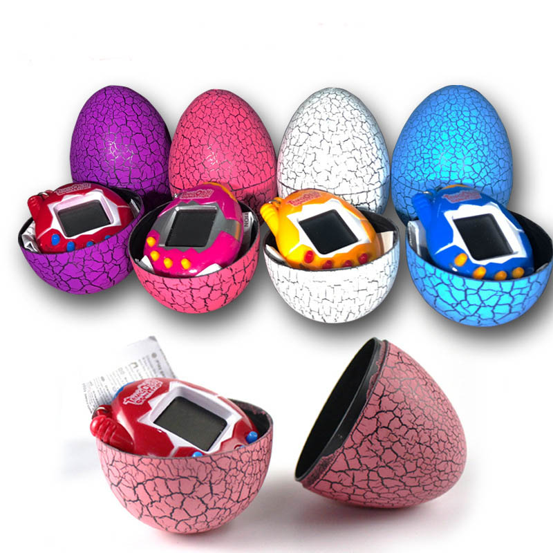 Electronic virtual pet machine Cracked egg mounted game machine Tumbler candy for childrens gift