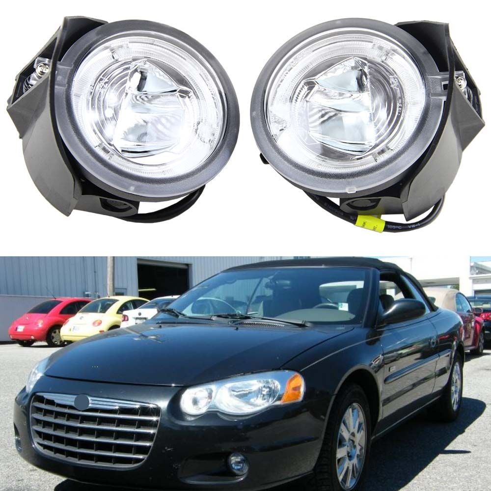 2pcs/pair for Chrysler Pacifica 2004 Fog Light/Driving Light Assembly 10W high power Drl Daylight (Driver & Passenger Side) 90w led driver dc40v 2 7a high power led driver for flood light street light ip65 constant current drive power supply