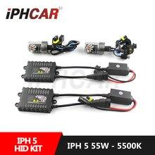 Бесплатная Доставка IPHCAR Стайлинга Автомобилей 55 Вт Xenon Hid Комплект для H1 Объектив Проектора H1 H4 H7 H8 H11 9005 9006 HID Ксенона AC Тонкий Балласт