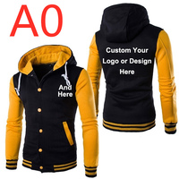 A0 For Men Design Logo Hoodies Slim Jackets Spring Autumn long sleeved colors Patchwork Baseball jackets Leisure Outwear Hoodies