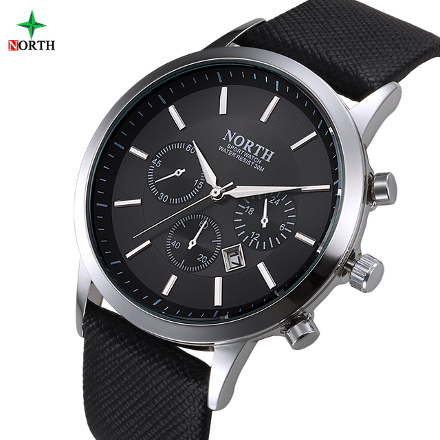 2017 Luxury Brand Quartz Wristwatch Men Leather Watches Male Stainless Steel Waterproof Wrist Fashion Casual Men Business Watch