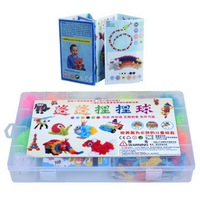 370pcs Kid Educational Assembling 3D Puzzle Toys DIY Puff Ball Squeezed Variety Shape Creative Handmade Toy