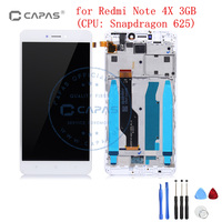 100 Tested For Xiaomi Redmi Note 4X LCD Display Touch Screen Frame Assembly Redmi Note 4
