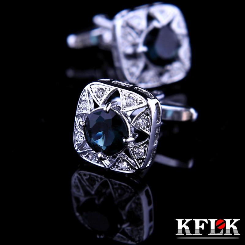 KFLK Bijuterii Cămașă moda manșetă pentru bărbați Brand manșetă buton manșetă link de înaltă calitate Nunta masculin abotoaduras Transport gratuit