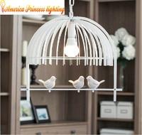 Modern minimalist restaurant lights led the first single aisle creative bird chandelier lighting, material iron, AC110 240V