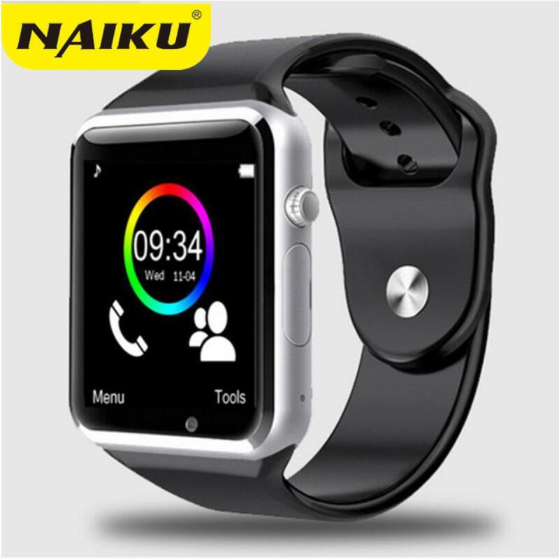 Montre-bracelet A1 Bluetooth montre intelligente hommes Sport podomètre avec caméra SIM Smartwatch pour Smartphone Android russie T15 bon thanY1