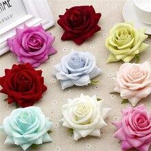 50pcs/bag Rose flower Heads artificial flowers silk Flowers romantic wall wedding car decor home decoration