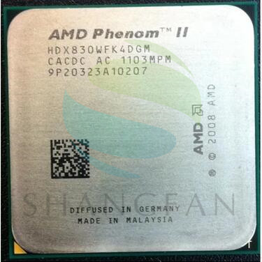 Free shipping for AMD Phenom II X4 830 2.8GHz/6MB /4 cores Quad-Core DeskTop CPU HDX830WFK4DGM Socket AM3