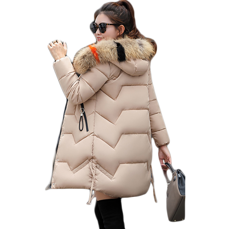 New 2019 Top Quality Women   Parkas   Very Warm Women Winter Coat Fake Fur Hooded Winter Jacket Women Thicken Down Jacket CM973