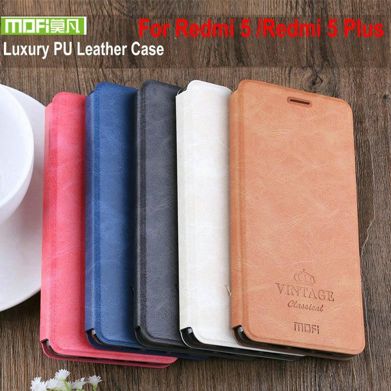 Original Mofi Vintage Skin For Xiaomi Redmi 7 7A Luxury PU Flip Stand Cover Redmi7 Leather Case Redmi 5 Plus Phone Fundas Cases