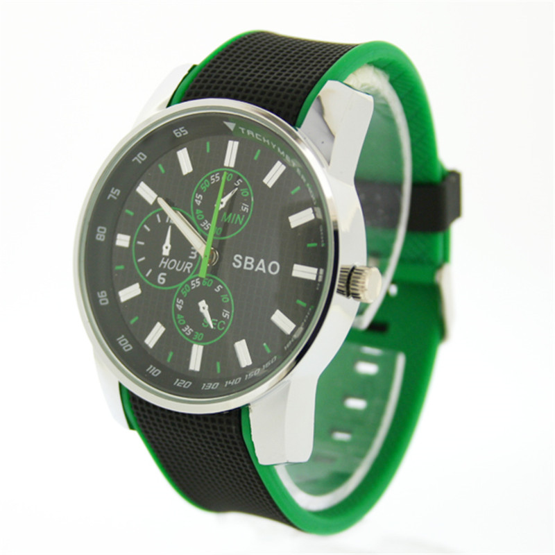 online get cheap green watches aliexpress com alibaba group sbao mens green watch casual watch men quartz 22mm water resistant men s sport watch rubber silicone bracelet watches