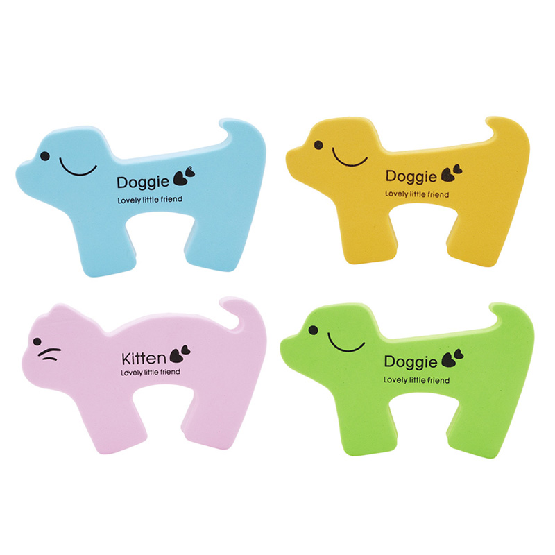 Cute Animal Shaped Protection Baby Safety Security Card Door Stopper Baby Newborn Care Protection For Children Anti Collision