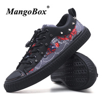 2018 Fashion Casual Shoes For Men Elastic Band Footwear For Boy Anti Slip Flats Walking Men Shoes Rivet Adult Nightclub Shoes