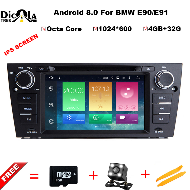 Android 8.0 Octa Core Car DVD Player Stereo GPS for BMW E90 Sedan E91 Touring E92 Coupe E93 Convertible 2007 2008 2009 M3