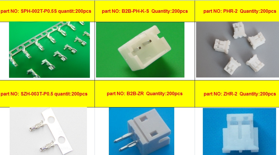 sample connector terminal housing header crimp SPH-002T-P0.5S B2B-PH-K-S  PHR-2 szh-003t-p0.5  B2B-ZR ZHR-2 each part NO 200pcssample connector terminal housing header crimp SPH-002T-P0.5S B2B-PH-K-S  PHR-2 szh-003t-p0.5  B2B-ZR ZHR-2 each part NO 200pcs