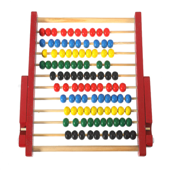 Children Kids Baby Wooden Toy Small Abacus Handcrafted Educational Toy Children's Calculating Beads Early Learning Kids