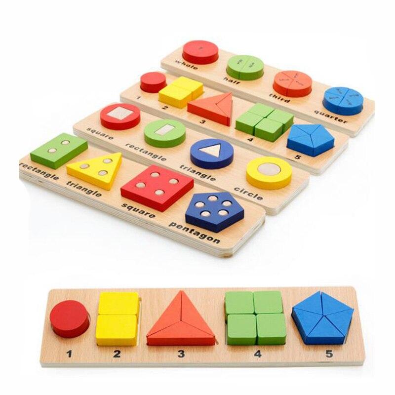 MWZ Деревянный 3D геометрический паззл для раннего обучения по системе Монтессори, игрушки для детей, настольная игровая доска для раннего об...