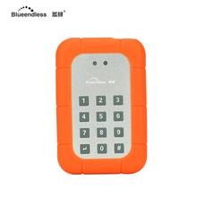 Внешний жесткий диск 2 ТБ шифрования внешний HDD USB жесткого диска SATA жесткий диск высокой безопасный пароль дизайн 2.5 дюймов hdd диск случае