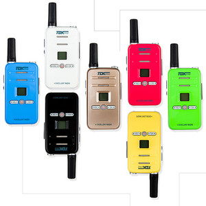 Image 1 - 100% Original TD Q7 FRS/GMRS Mini Colorful Walky Talky Q7 Scan Emergency Alarm Small Children Two Way Radio Kids Walkie Talkie