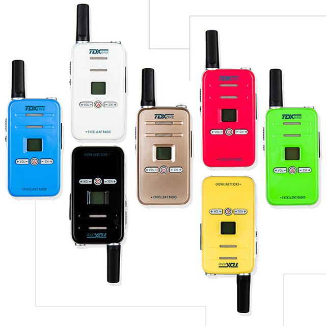 100% Original TD Q7 FRS/GMRS Mini Colorful Walky Talky Q7 Scan Emergency Alarm Small Children Two Way Radio Kids Walkie Talkie