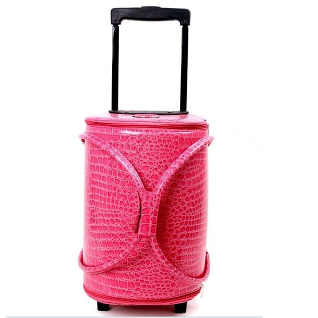 YISHIDUN чемодан, сумка тележка дорожный багаж, сумки красота случае профессиональный визажист должен-большое пространство PU сумки valiz