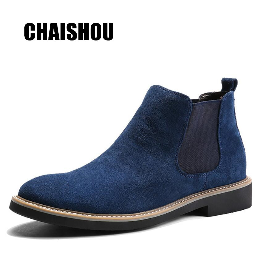 2019 shoes man Spring New Fashion Casual Men Ankle Chelsea Boots Male Shoes Cow Suede Leather Slip Ons Motorcycle Man Boot CS2132019 shoes man Spring New Fashion Casual Men Ankle Chelsea Boots Male Shoes Cow Suede Leather Slip Ons Motorcycle Man Boot CS213