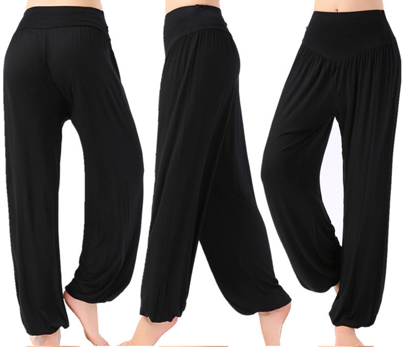 Mujeres Yoga pantalones Plus tamaño Yoga polainas de bebé de Yoga de baile TaiChi pantalones longitud completa Modal Pantalones de Yoga