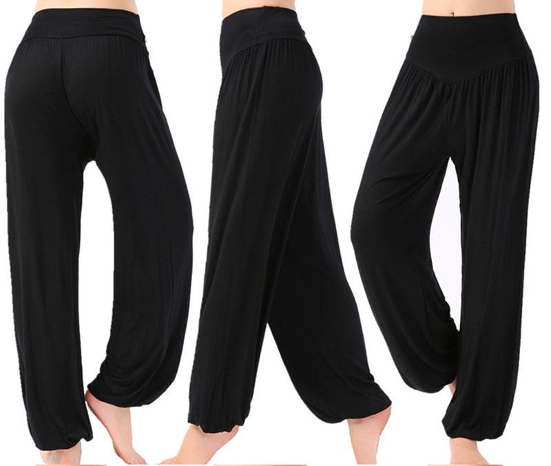 Women Yoga Pants Plus Size Yoga Leggings Colorful Bloomers Dance Yoga TaiChi Full Length Pants Modal Pants Yoga Pants
