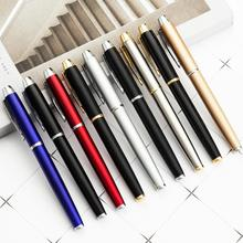 1pcs High Quality Brand Metal Roller Pen Luxury Ballpoint Pens 0.5mm Blue/Black ink For Business Writing Office School Supplies 1pcs genkky high quality duke 0 5mm metal gel pens luxury sign pens roller pen stationery office school supplies business pen