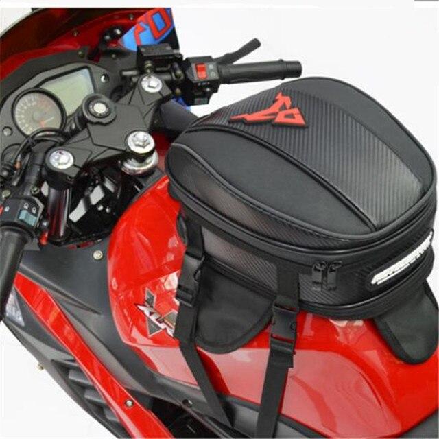 Sacos de Motocicleta Sela à prova d' água saco Do Tanque de Óleo Combustível Motocross Touring Road Racing Motorista Cauda Back Seat Bagagem de Viagem Mochila