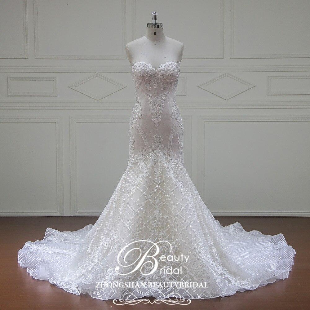 Eslieb Vestido De Noiva rankinės vestuvių suknelės 2018 Sweethart - Vestuvių suknelės