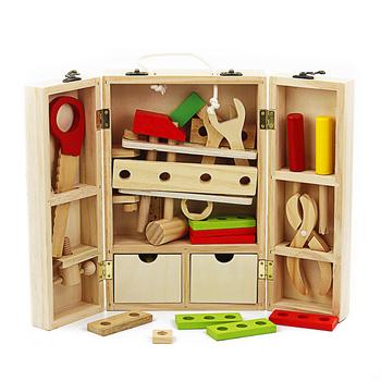 Zestaw dla dzieci wielofunkcyjny zestaw narzędzi zabawki drewniane konserwacji pudełko klucz zestaw narzędzi do dla dzieci połączenie orzechów edukacyjne zestawy narzędzi tanie i dobre opinie No swallow Narzędzia ogrodowe zabawki Unisex Drewna CFTB1530508 3 lat Dental house Model